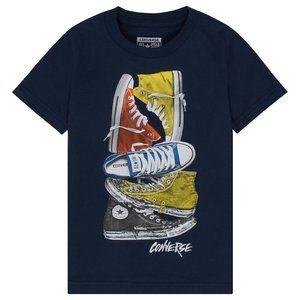 Converse Stacked Sneakers Remix T-Shirt-Navy